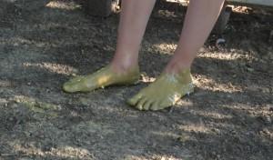 Bain d'argile pour les pieds