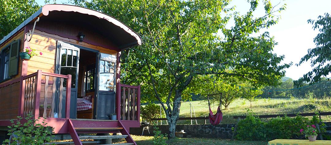 La Roulotte du Petit Moras, séjour insolite en Ardèche
